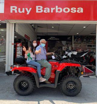 A Linares se va el TRX420FM, don Rafael y Macarena se fueron felices rumbo al sur. A disfrutarlo que aún queda verano.